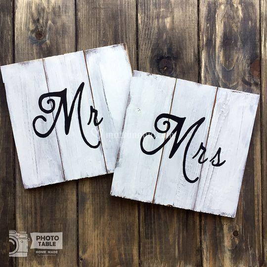 Restro sedia Mr Mrs
