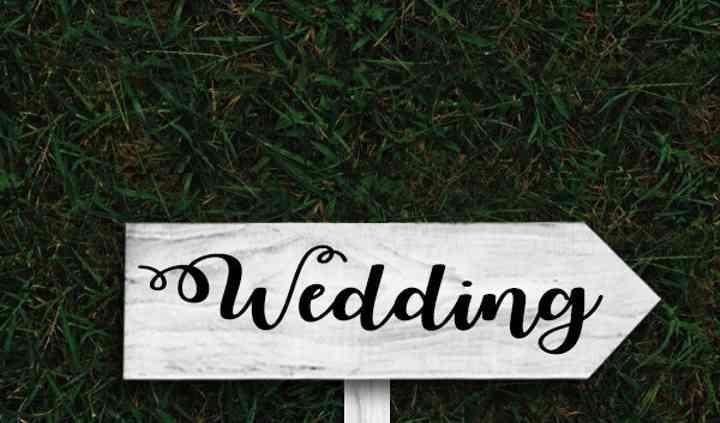 Indicazione wedding b/n