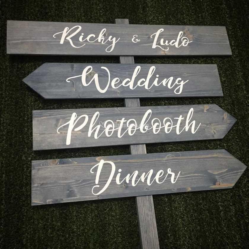 Insegne personalizzate wedding