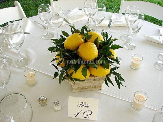 Centro tavola limoni