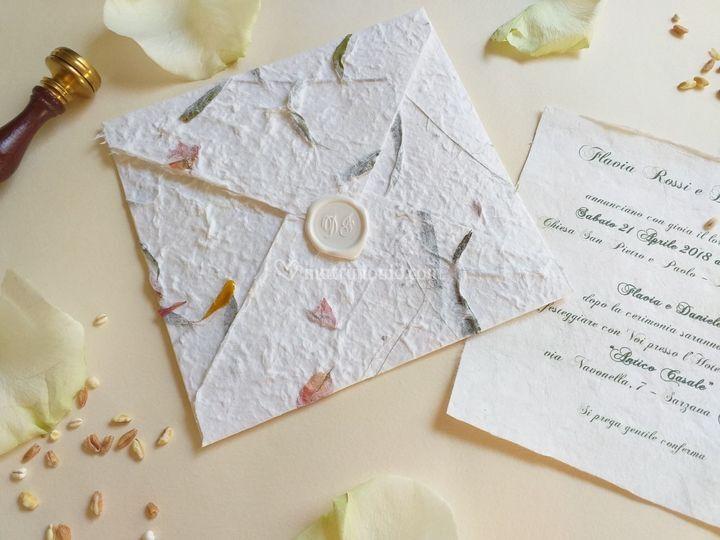 Partecipazione carta cotone