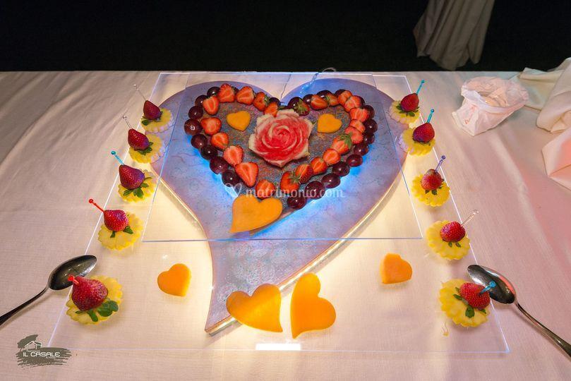 Decorazioni in frutta