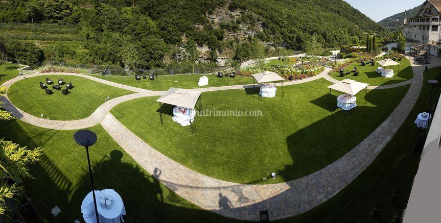 Panoramica alto giardino