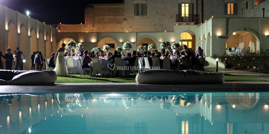Masseria traetta exclusive for Cena in piscina