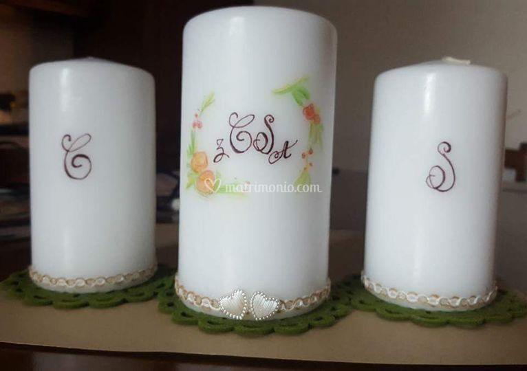 Candele decorate a mano