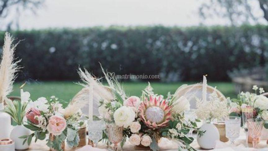 Pampas protea wedding