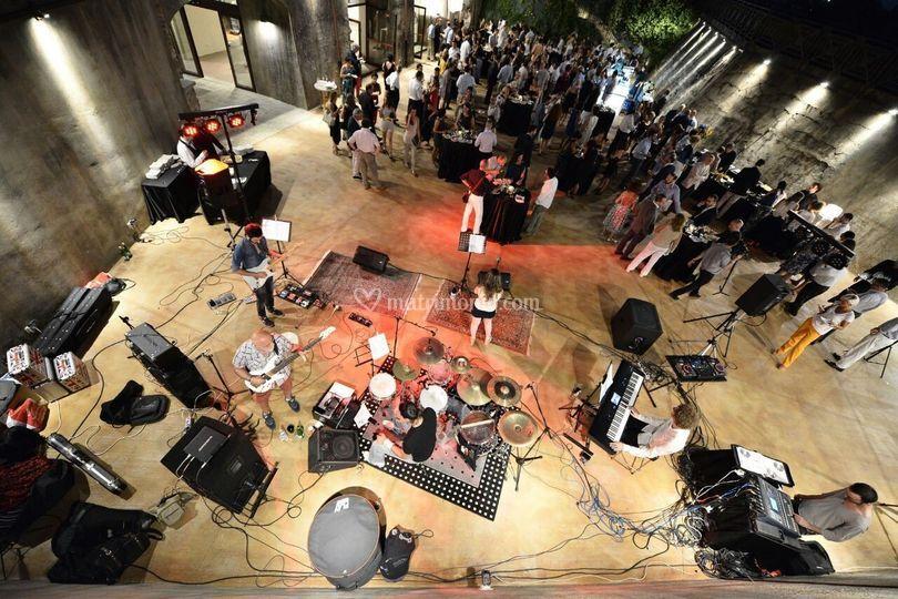 Live band vista dall'alto
