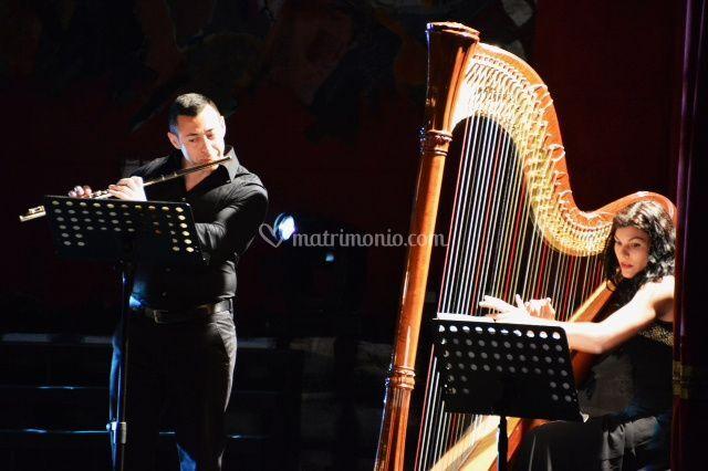 Duo arpa e flauto