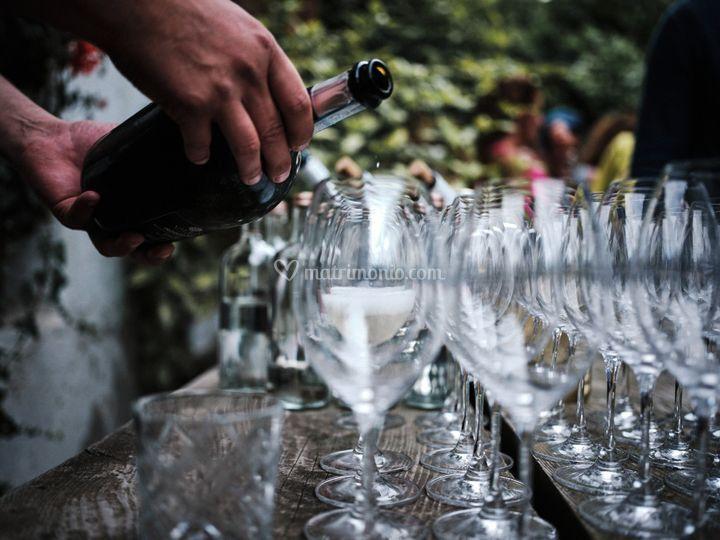 Aperitivo con Champagner