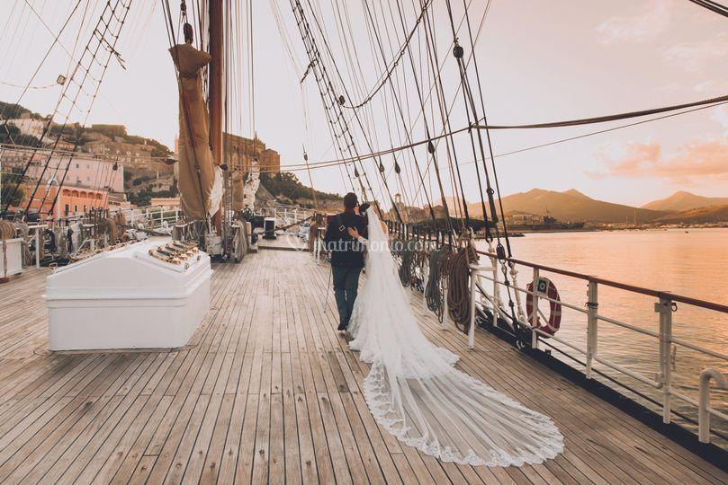 Sposi in barca