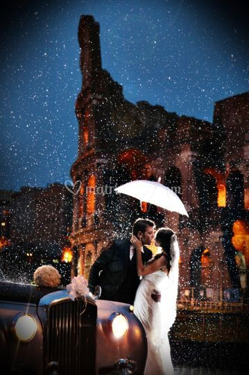 Matrimonio pioggia roma