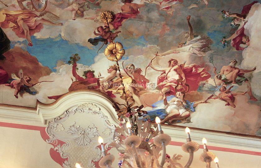 Salone degli affreschi - Parti