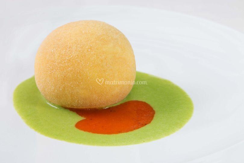 La palla di mozzarella