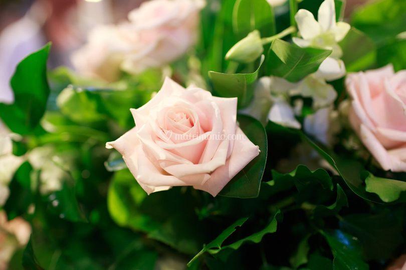 Addobbo verde e rosa