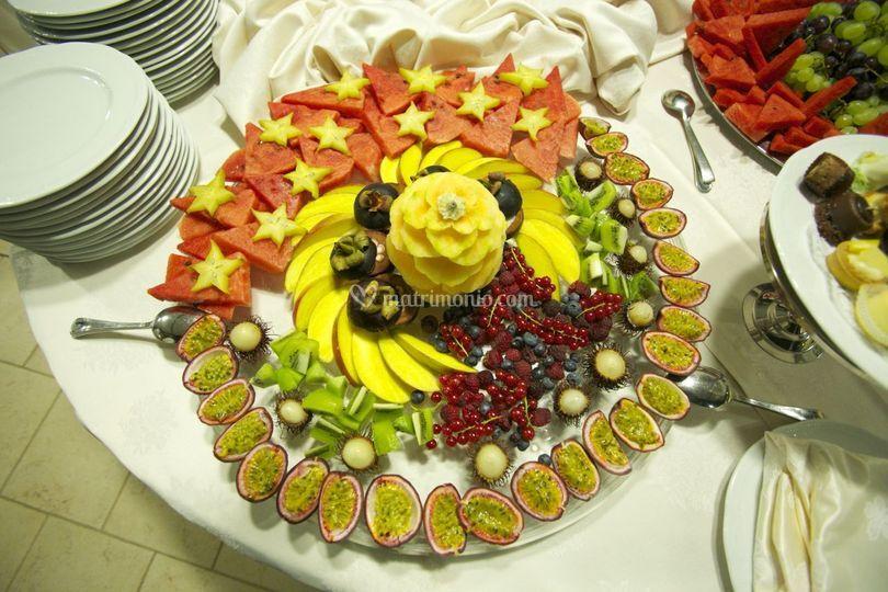 Presentazione frutta buffet