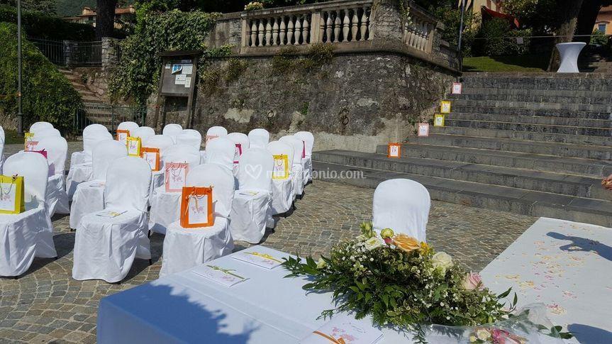 Wedding bag e sedie