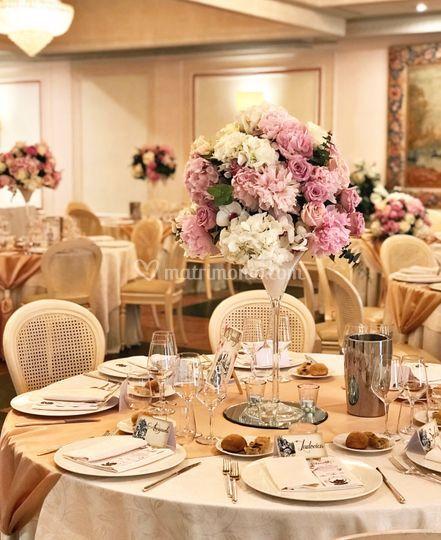Allestimenti floreali tavoli