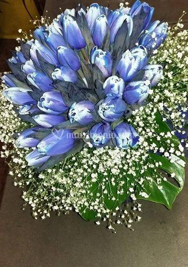 Bouquet tulipani blu