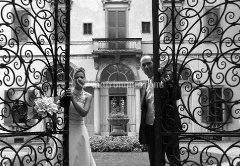 Gli sposi in villa