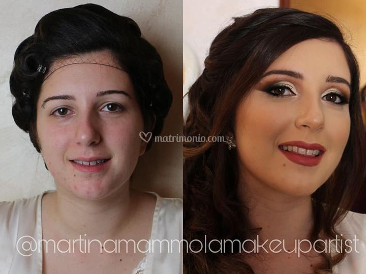Prima e dopo trucco sposa