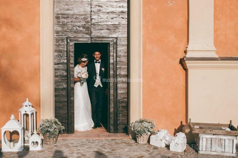 L'uscita degli sposi