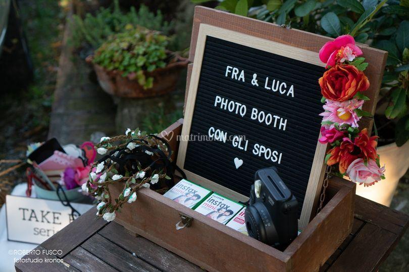 Photo booth con gli invitati