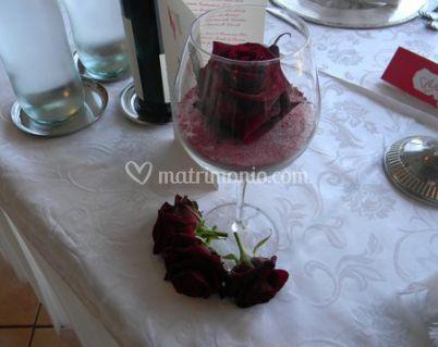 Centrotavola con rosa