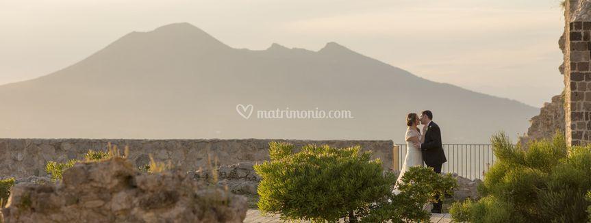 Wedding shot Vesuvio