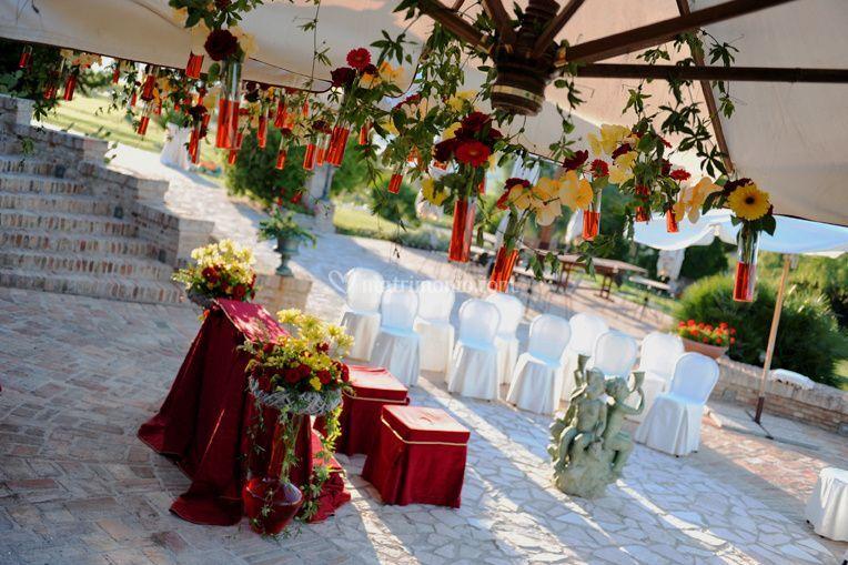 Cerimonia in Villa Rossa