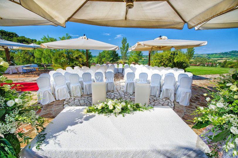 Cerimonia in Villa Bianca
