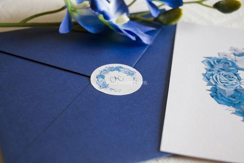 Partecipazione busta blu