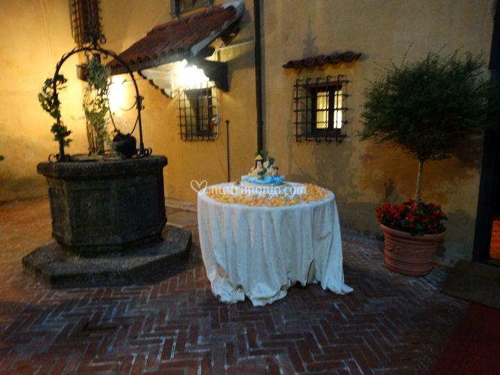 Torta Nuziale  nella Corte di Castello Spinola