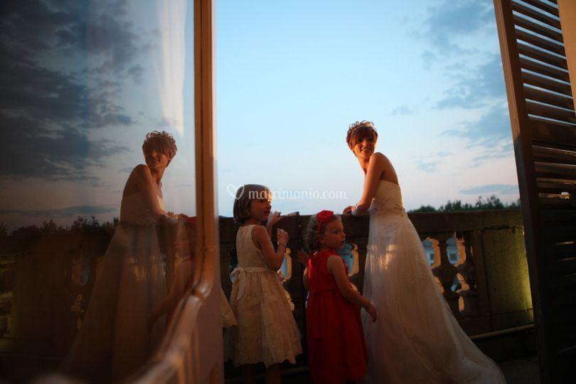 La sposa al tramonto