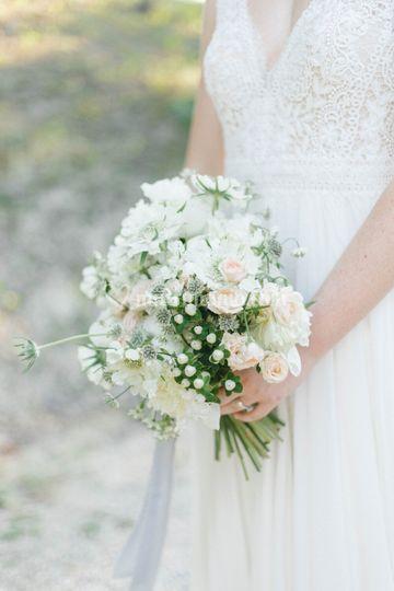 Bpouquet, bianco e rosa cipria