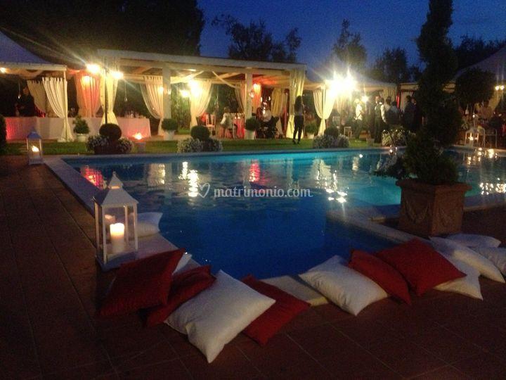 Villa I Girasoli Matrimonio : Vista piscina di villa i girasoli foto