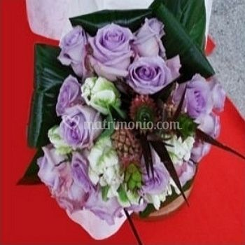 Bouquet Rose, Tulipani e Anans