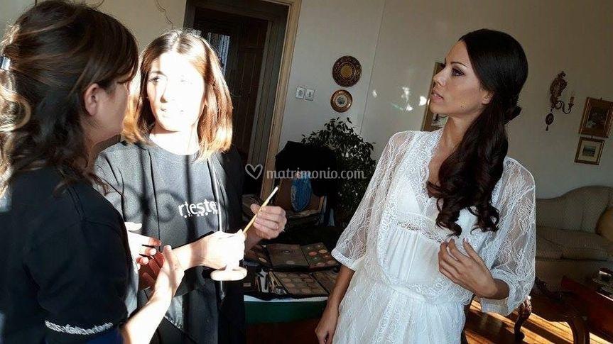 Anna e Olimpia con Selena