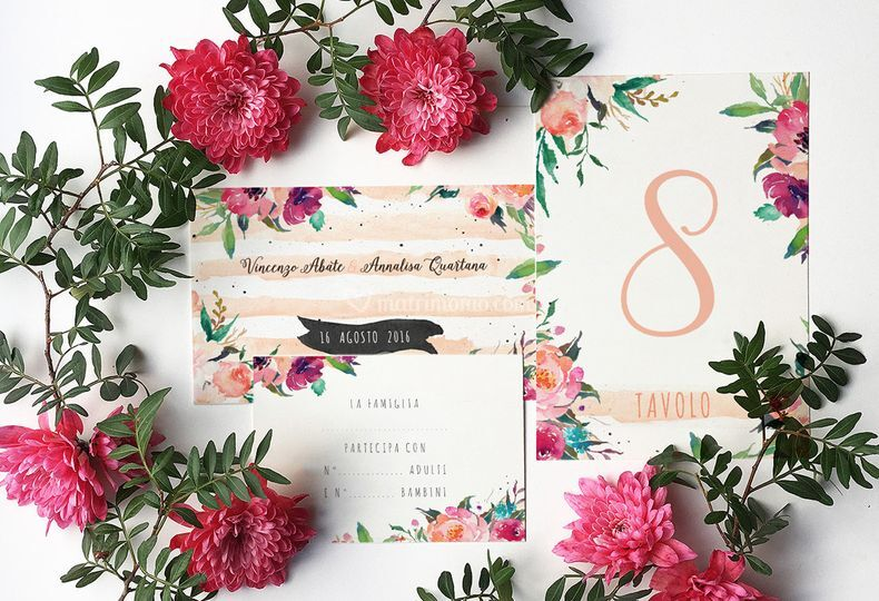 Suite flower watercolor
