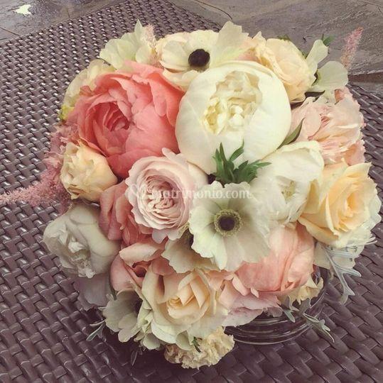 Bouquet peonie rose inglesi