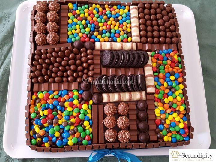 Dettaglio torta di compleanno