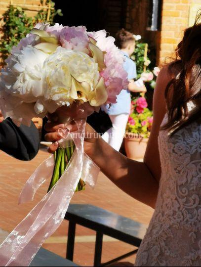 Bouquet calle e peonie
