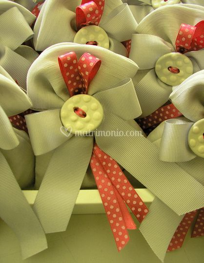 Sacchetto con bottone ceramica