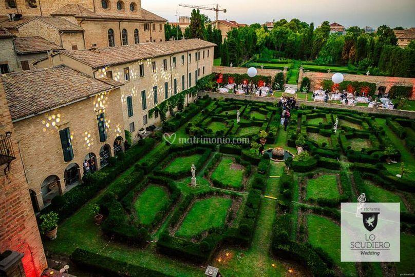 Il giardino all 39 italiana con s di ristorante lo scudiero - Giardino all italiana ...