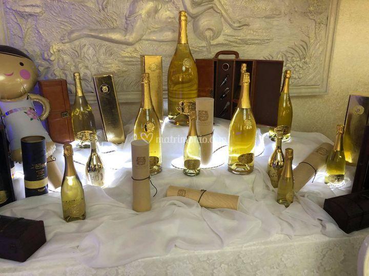 Bottiglie Oro e Personalizzate