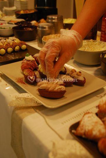 """Dettaglio buffet dolci """"live"""""""