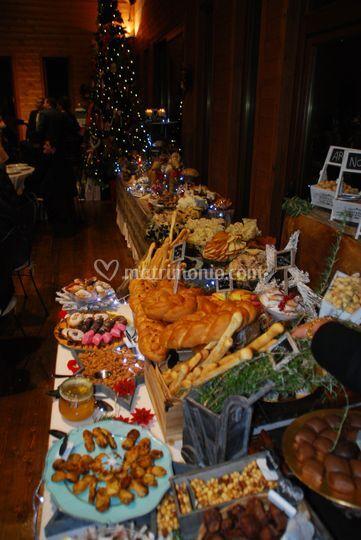 Buffet di frutta secca e dolci