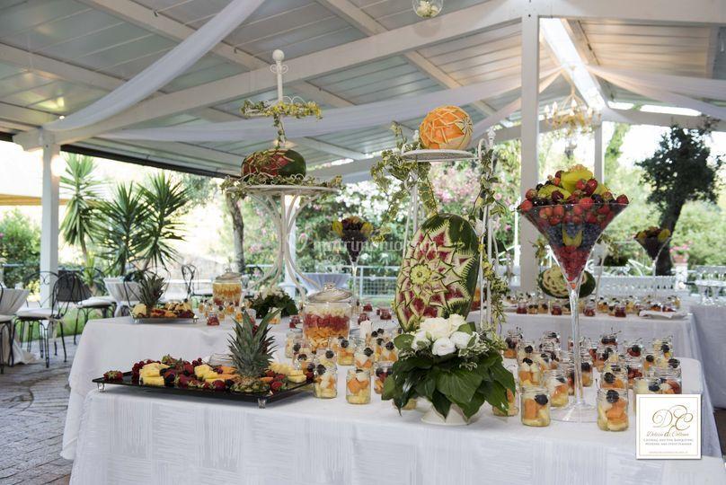 Buffet coreografie di frutta