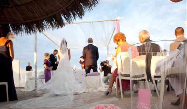 Gli sposi all'altare