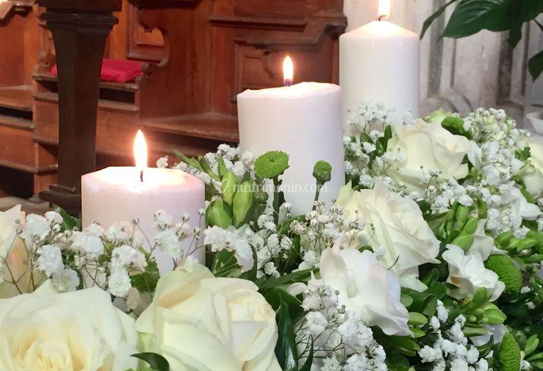 Balaustre con candele