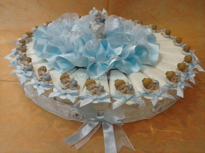 Torta p/confetti battesimo